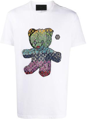 Philipp Plein teddybear logo print T-shirt