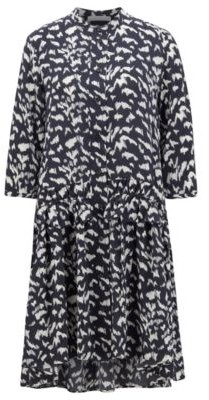 HUGO BOSS Pony-print shirt dress in lightweight canvas