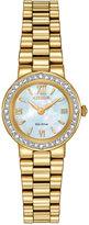 Citizen Women's Eco-Drive Gold-Tone Stainless Steel Bracelet Watch 23mm EW9822-59N
