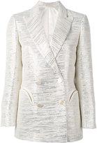 Blazé Milano metallic embroidered blazer