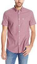 Ben Sherman Men's Short Sleeve Check Button Down Shirt