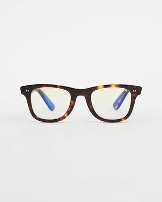 Caddis Brown Blue Light Lenses - Porgy Backstage - Blue Light Lenses - Size +0.00 at The Iconic