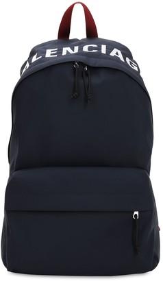 Balenciaga Logo Embroidered Nylon Back Pack