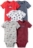 Carter's 5-Pk. Cotton Sports Bodysuits, Baby Boys