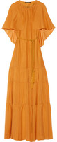 Rachel Zoe Melina Cape-Effect Silk-Chiffon Maxi Dress