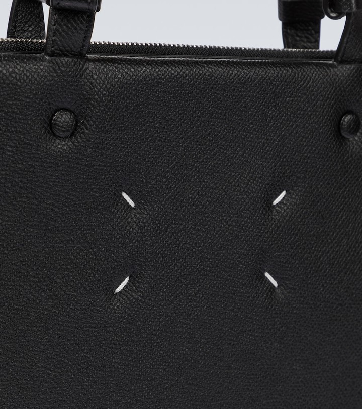 Thumbnail for your product : Maison Margiela Leather shopping tote bag