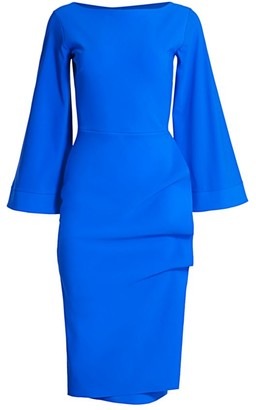 Chiara Boni Nusi Bis Flare-Sleeve Dress