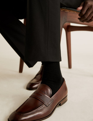 Marks and Spencer Leather Slip-On Loafers