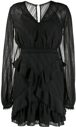 Three floor Mirrored Escape mini dress