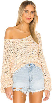 Free People Coconut V Neck Sweater