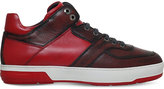 Salvatore Ferragamo Monroe Gancho High Top Leather Trainers