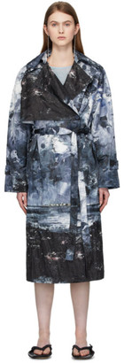 Acne Studios Blue Landscape Painting Trench Coat