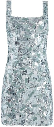 Alice + Olivia Addie Beaded Mini Dress