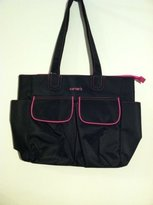 Carter's Everyday Tote Antimicrobial Diaper Bag in Various Colors (Black with Hot Pink Stitching)