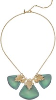 Alexis Bittar Crystal Studded Pleated Bib Necklace Necklace