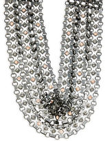 Nanette Lepore Crystal and Faux Pearl Choker Necklace