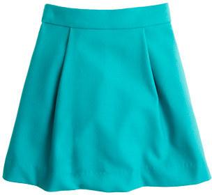 J.Crew Girls' pleated swing skirt in flannel