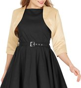 Black Butterfly Clothing Black Butterfly Satin Bolero Jacket - Half Sleeve (, US)