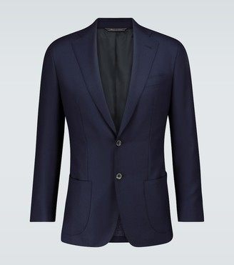 Unstructured single-breasted blazer