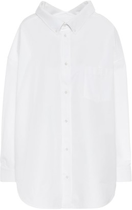 Balenciaga Swing oversized cotton-poplin shirt