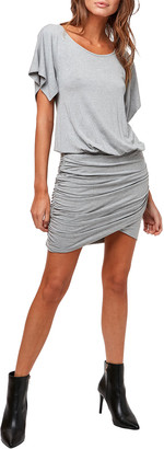 Astars Double Take Ruched Jersey Dress