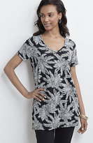 J. Jill Wearever Printed V-Neck Tunic