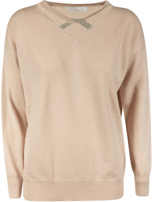 Fabiana Filippi V-neck Cut-out Detail Jumper