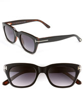 Tom Ford Women's Retro Inspired 50Mm Sunglasses - Black/ Havana/ Brown