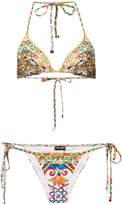 Dolce & Gabbana Majolica leopard print bikini