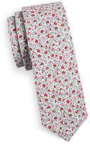 Haight And Ashbury Slim Mini Flower Cotton Tie