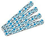 Double-Sided Nail File Emery Board Set 4 Pack - Birthday Party Stripes Blue - 40 Forty