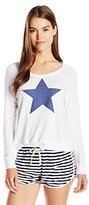 Sundry Women's Star Crop Pullover