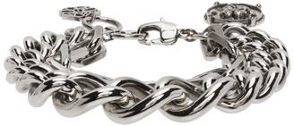 Alexander McQueen Silver Medium Charm Chain Bracelet