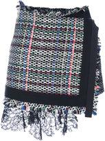 Sacai bouclé tweed skort - women - Acrylic/Cotton - 1