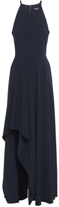 Badgley Mischka Asymmetric Stretch-cady Gown