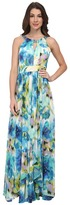 Eliza J Halter Maxi with Keyhole and Waterfall Skirt