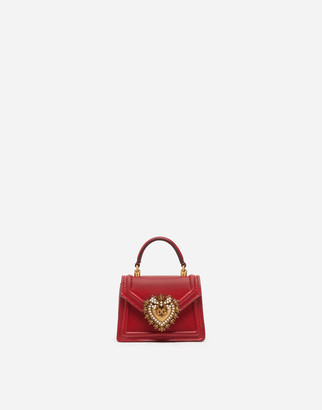 Dolce & Gabbana Devotion Micro Bag In Plain Calfskin