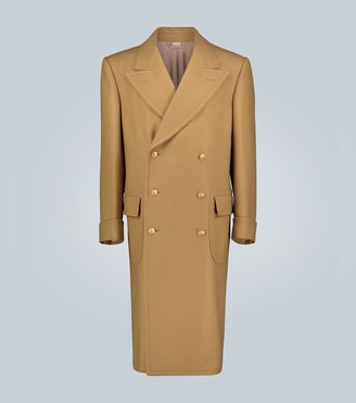 Gucci Double-breasted camel hair coat