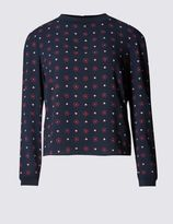 Marks and Spencer PETITE Floral Print Long Sleeve Shell Top