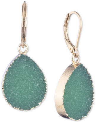 lonna & lilly Gold-Tone Rock Crystal Drop Earrings