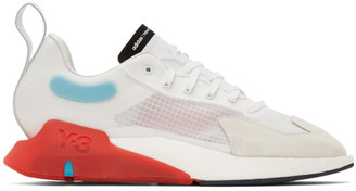 Y-3 White and Red Orisan Sneakers