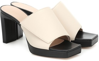 Wandler Isa leather plateau sandals