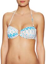 Eberjey Bleached Cecily Bandeau Bikini Top