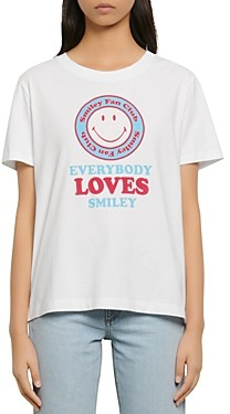 Sandro Smile Printed T-Shirt