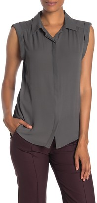 Pleione Cap Sleeve Shirred Shoulder Top