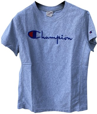 Champion Grey Cotton Top for Women
