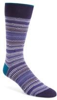 Bugatchi Men's Diamond Stripe Socks