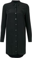 Equipment long-sleeve fitted shirt dress