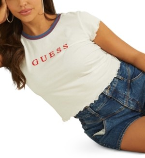 GUESS Lettuce-Edge Graphic T-Shirt