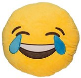 Want Funny Emoji Pillow Cushions Lovely Round Facial Expression Pillow Toys Yellow Plush Toys Kids Gift Sofa Decoration Pillows (Funny to Cry)